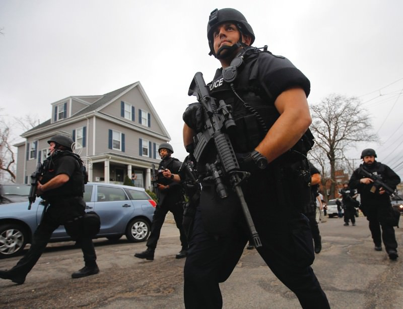 Mean streets: police officers tracked their suspect Dzhokhar Tsarnaev to Watertown, Massachusetts