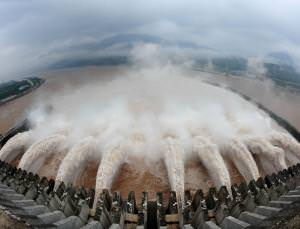 China's Three Gorges dam in action