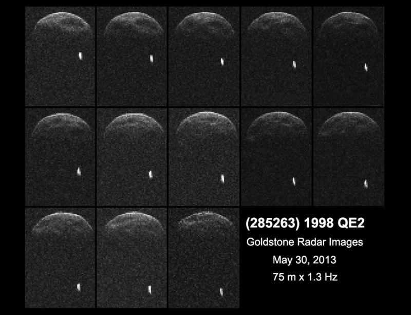 Asteroid 1998 QE2 and its diminutive moon