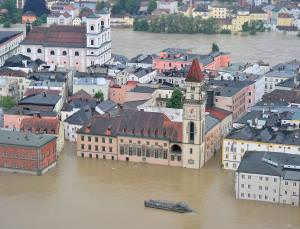 Passau, Germany: flood waters reach a 500-year high