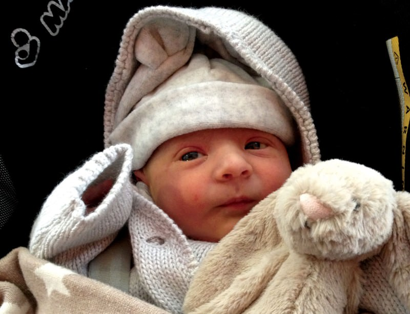 Heath, the first baby to be born using a new IVF technique