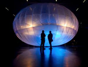 One of Google Loon's high-altitude Wi-Fi internet hubs, on display at the Airforce Museum in Christchurch, New Zealand