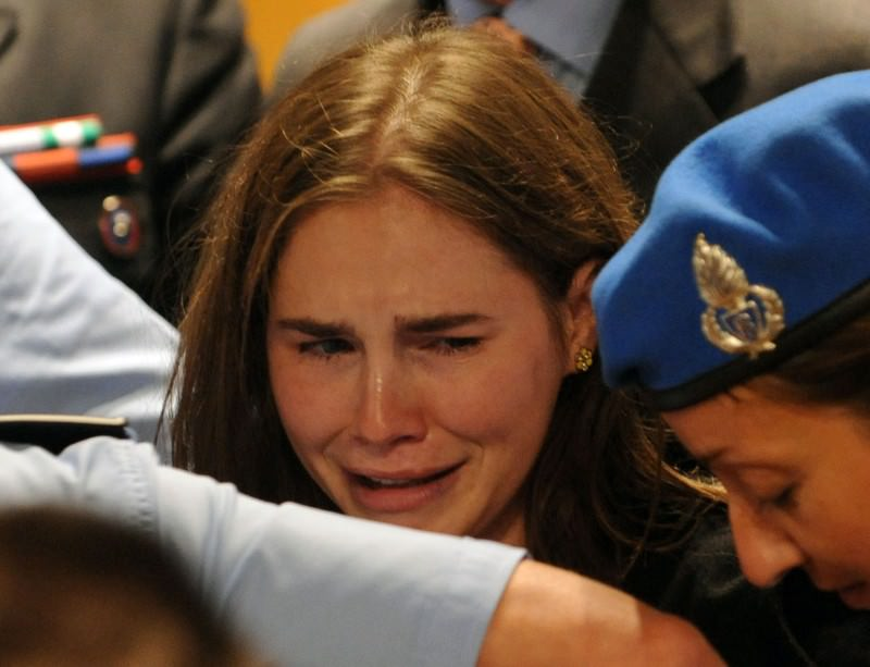 Amanda Knox, just after being acquitted in October 2011