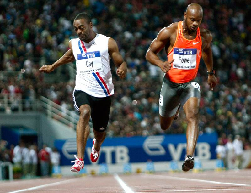 Both sprinters are not now competing in next month's world athletics championships in Moscow