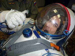 Luca Parmitano in drier days, during training in Star City, Russia