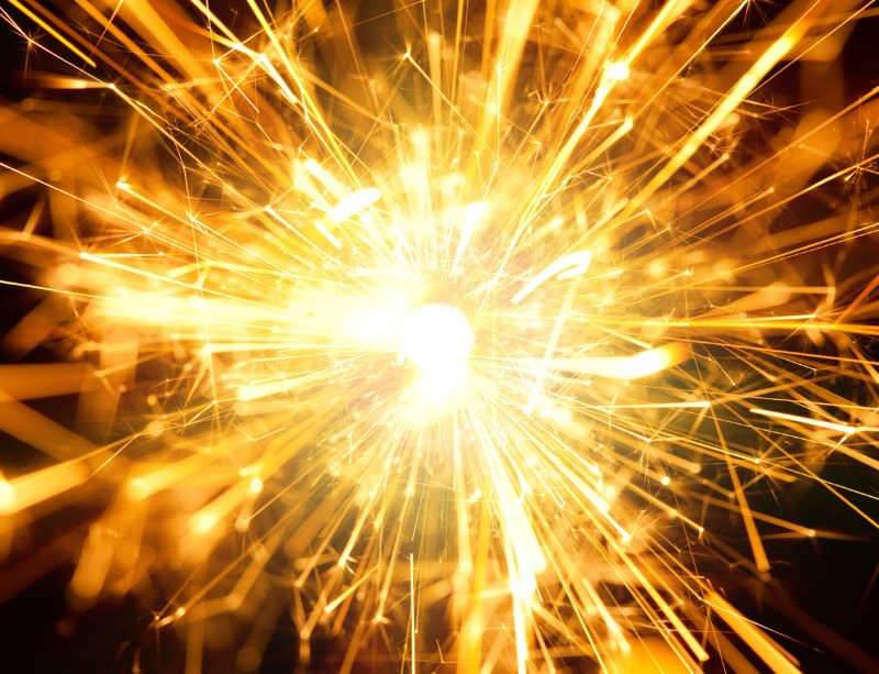 A stellar smash could have sparkling results