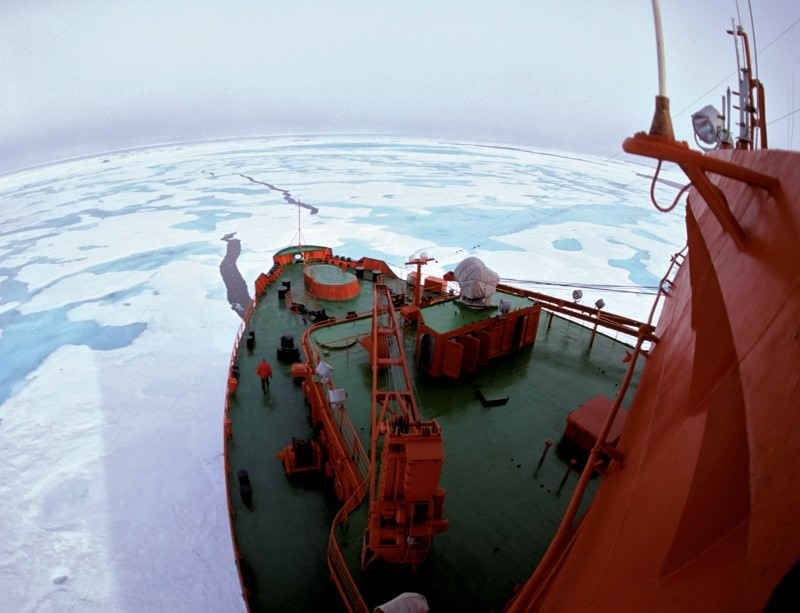 Huge quantities of methane are locked in the Arctic ice