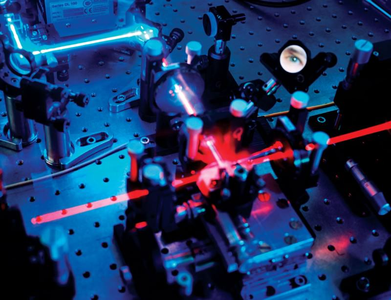 Information encoded in polarised laser light can be transmitted entirely securely