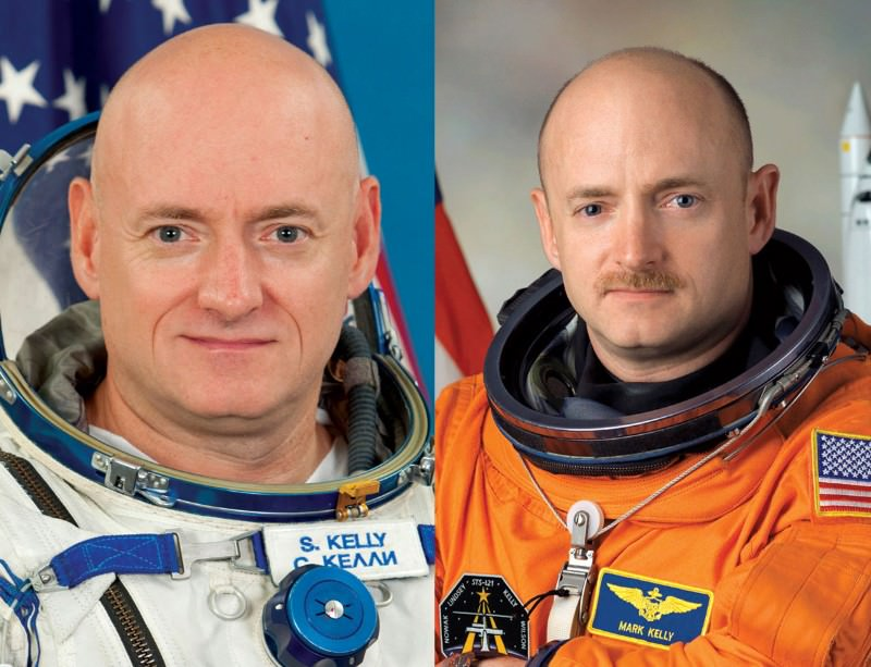 Identical: Scott and Mark Kelly