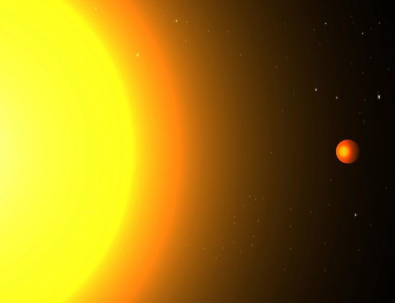 Hot metal planet burning through its years