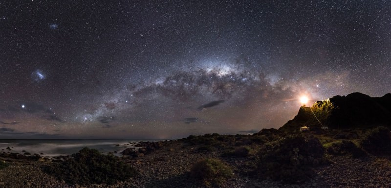 Milky Way emerges from a lighthouse in prize-winning photo