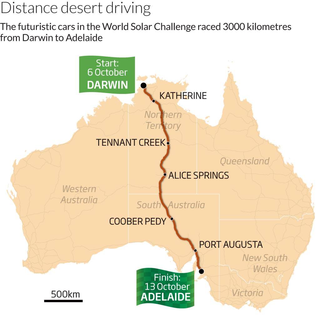 Distance desert driving