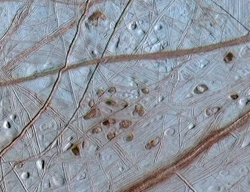 Europa's freckled skin