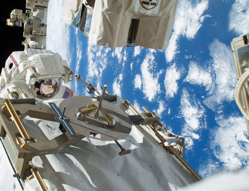 Astronaut Rick Mastracchio, on the first of two successful spacewalks