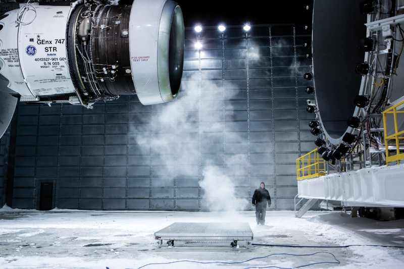 Enter a monster wind tunnel used to test jet engines