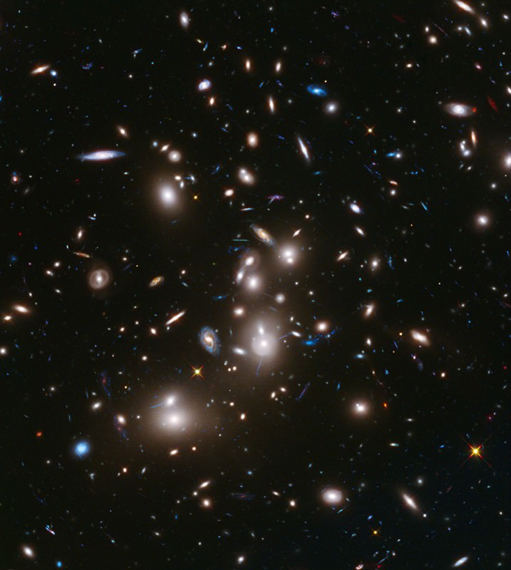 The galaxy cluster Abell 2744, snapped over the course of 50 hours from 12 billion light-years away