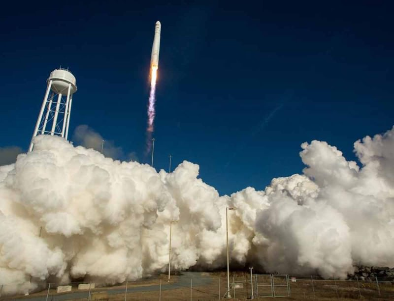 An Antares rocket has launched Cygnus towards the International Space Station