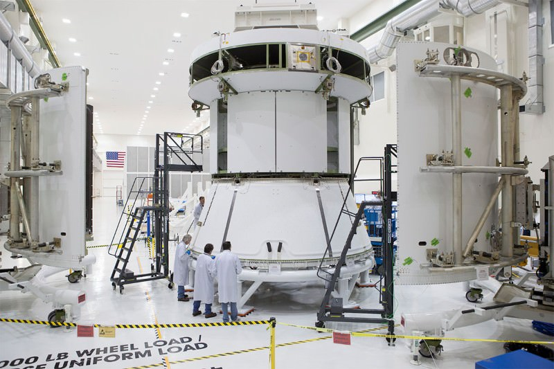 Orion's life-support module prepares for launch