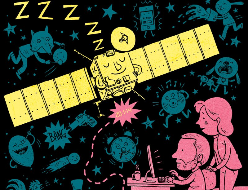 Wake up and smell the comet: Rousing the Rosetta probe