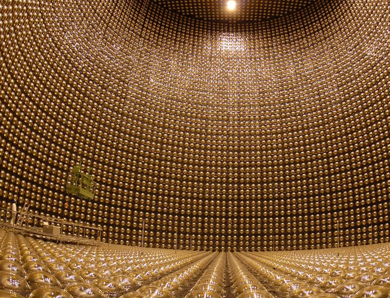 Inside the Super-Kamiokande detector in Japan