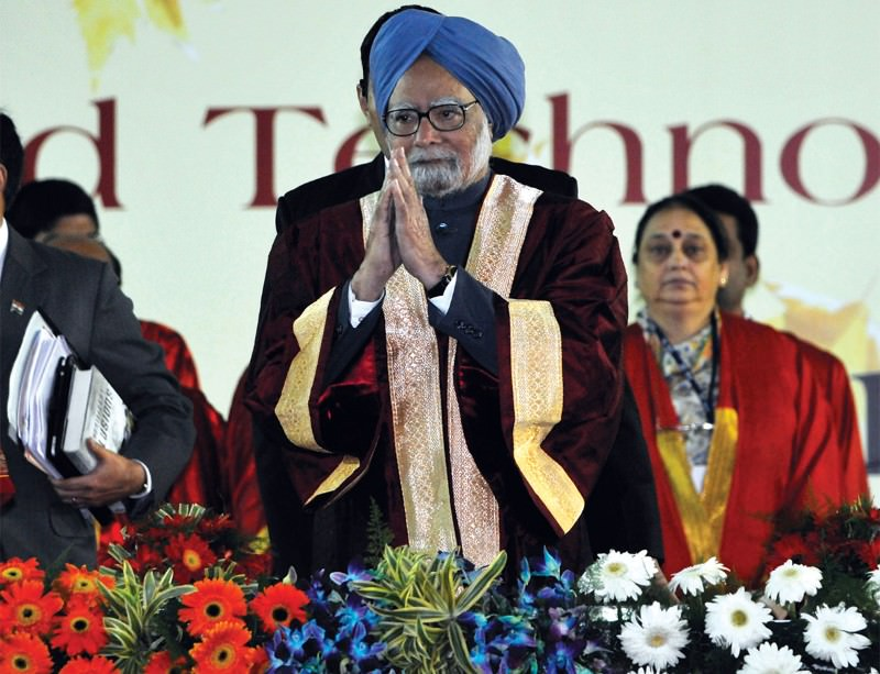 Backing big science: Indian prime minister Manmohan Singh