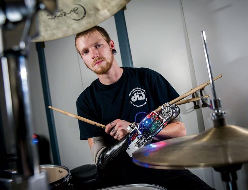 Superhuman drummer