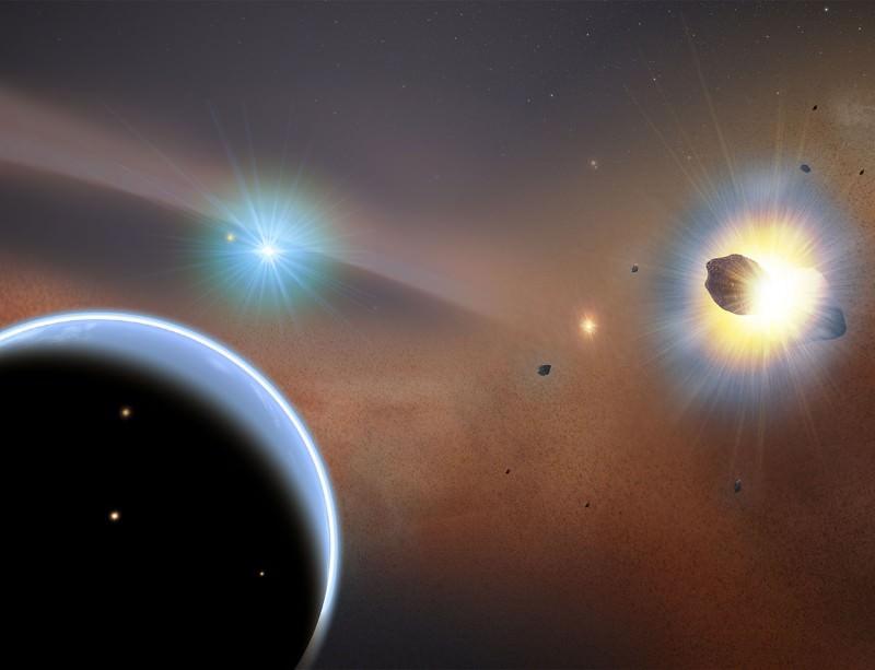 Comet collisions creating carbon monoxide?