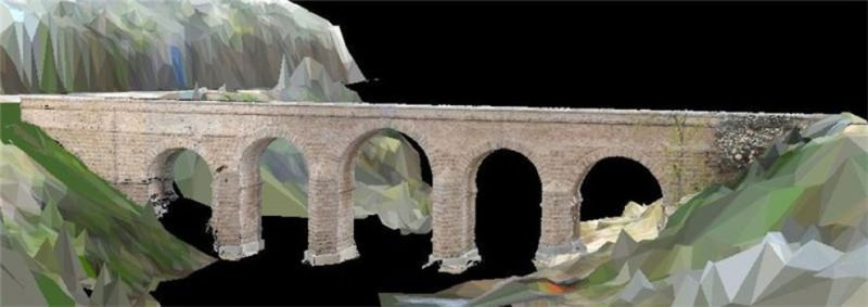 Lasers and radar build a 3D Roman bridge