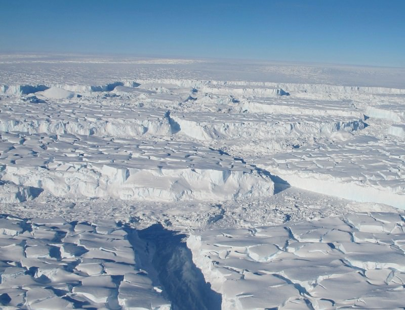 The West Antarctic ice sheet is slowly collapsing