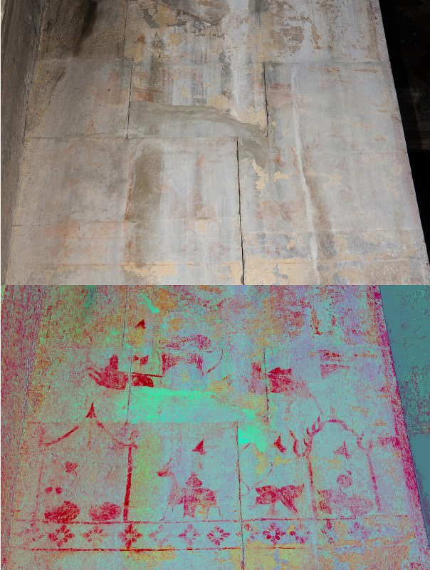 Hidden paintings of Angkor Wat appear in digital images