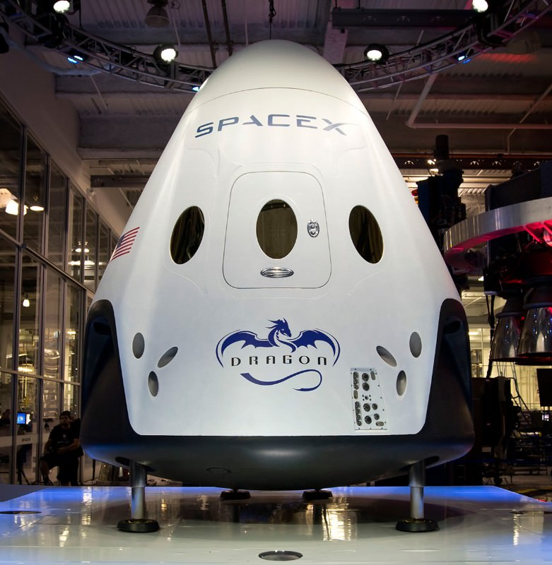 SpaceX unveils sleek, reusable Dragon crew capsule