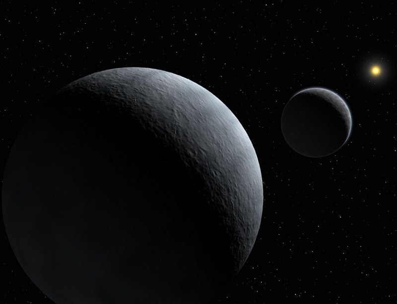 The first planet and moon to share?