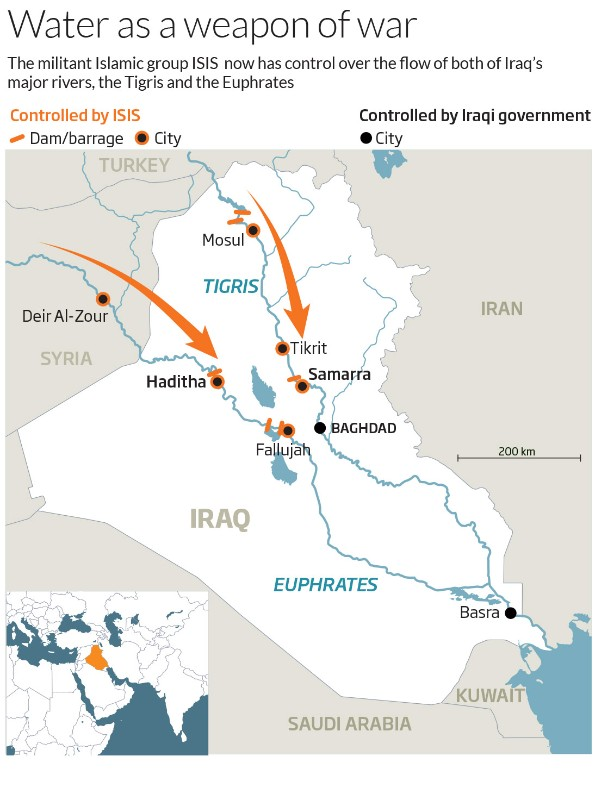 Extremists in Iraq now control the countrys rivers New Scientist