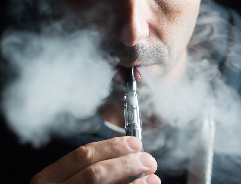 Vaping: popular with young smokers