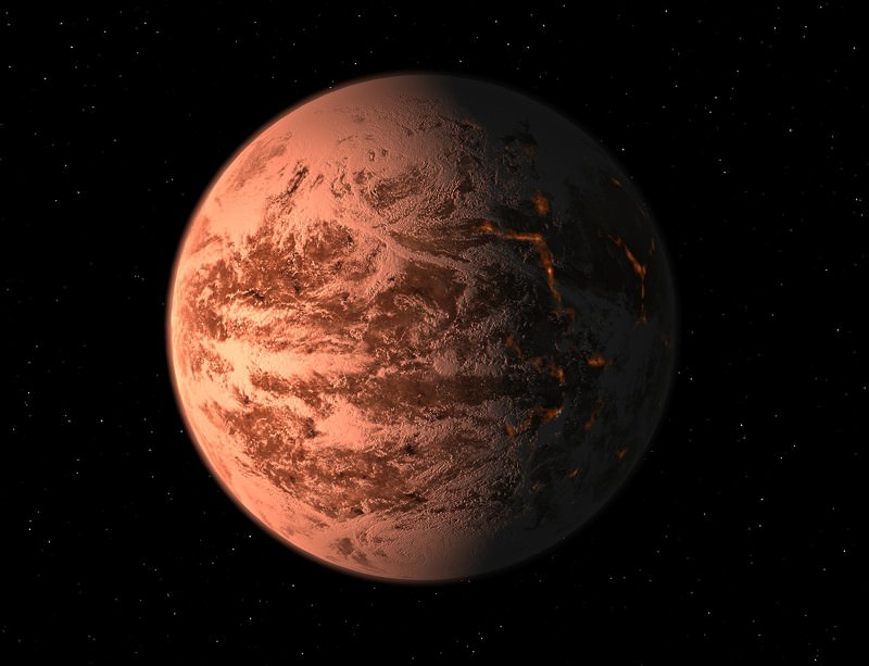 An artist's impression of Gliese 581 d may oversell the reality
