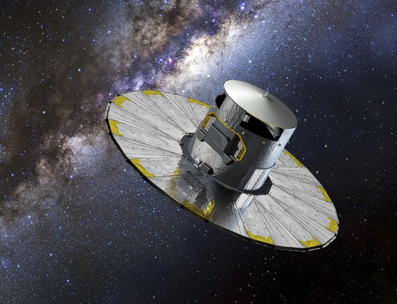 The Gaia satellite is being bombarded by micrometeoroids