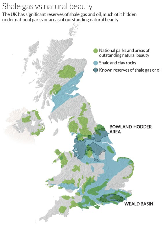 UK's national parks may not be safe from fracking