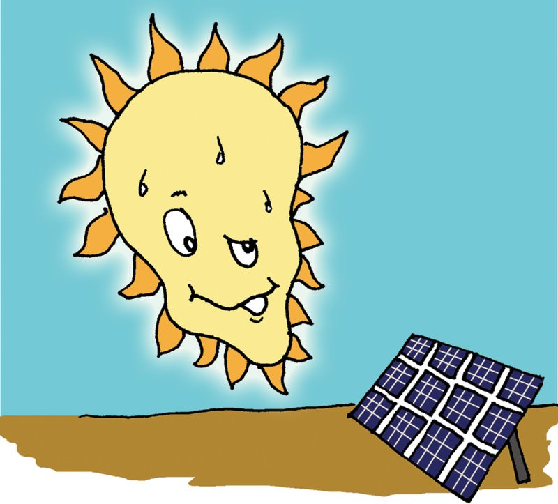 Feedback: Do solar cells suck sun?
