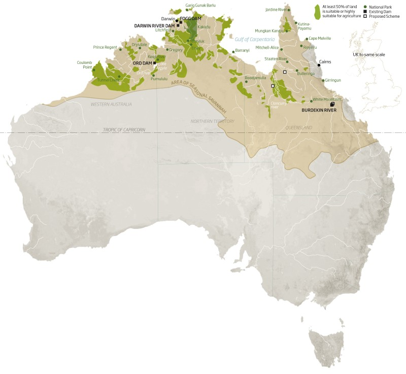 Australia's epic scheme to farm its northern wilds