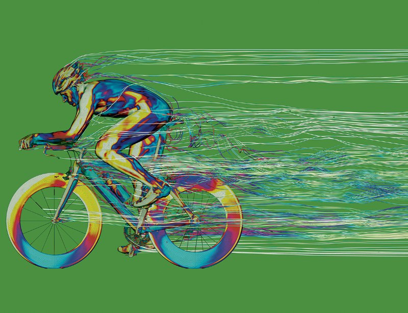Cycling is a drag act in virtual wind tunnel