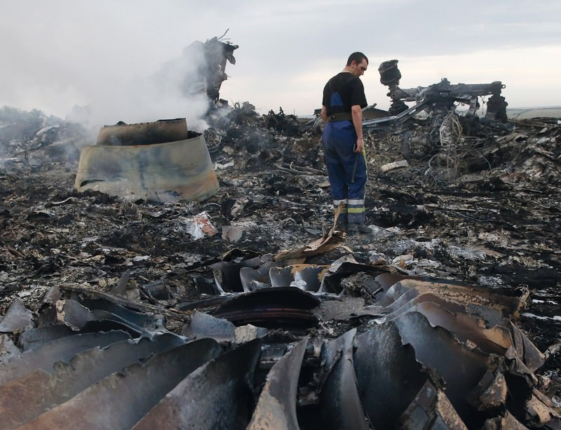 The remains of flight MH17