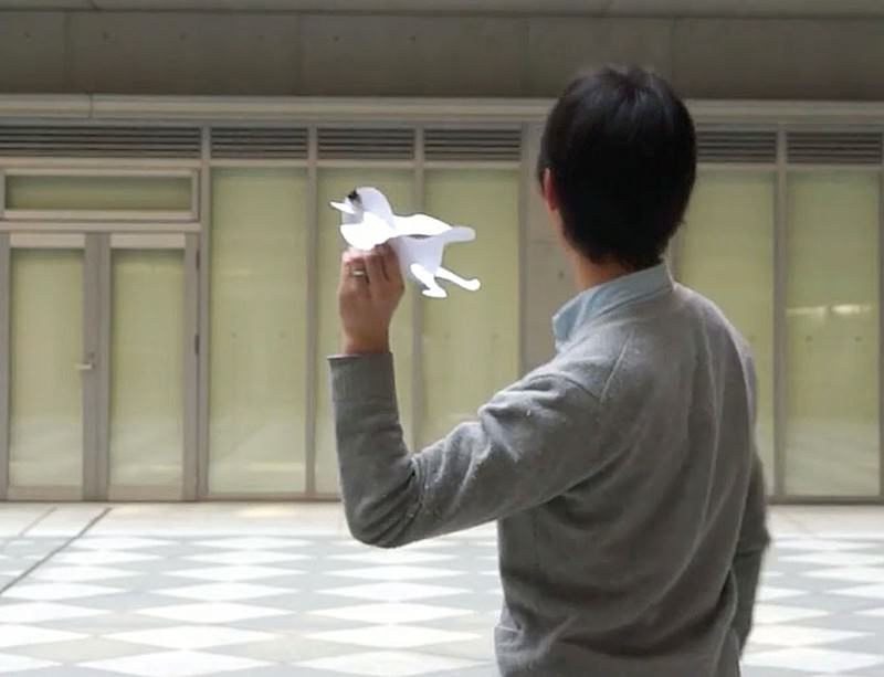 Would you like to fly my paper plane?