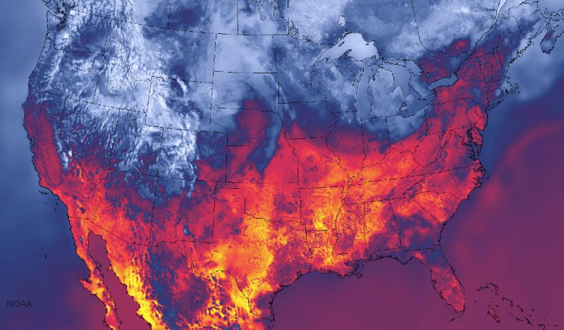 Super Detailed Weather Map Shows Us Of Fire And Ice