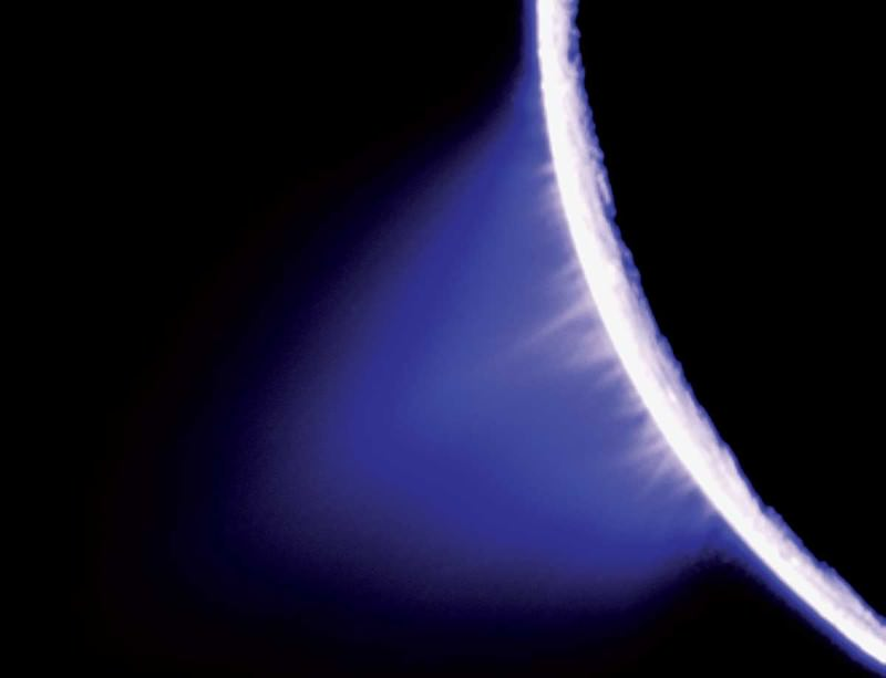 Enceladus: cold crust, soft centre