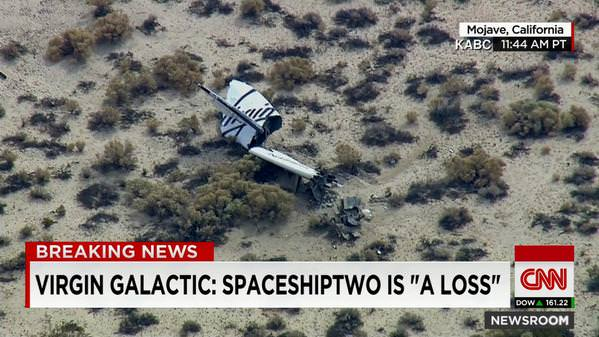 Virgin Galactic's SpaceShipTwo in fatal crash