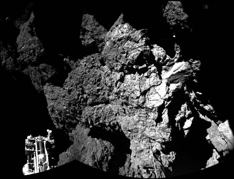 Philae has landed – first image from the surface
