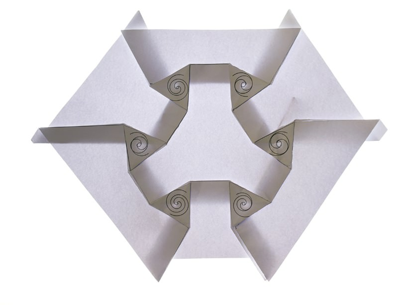 How to make an origami universe