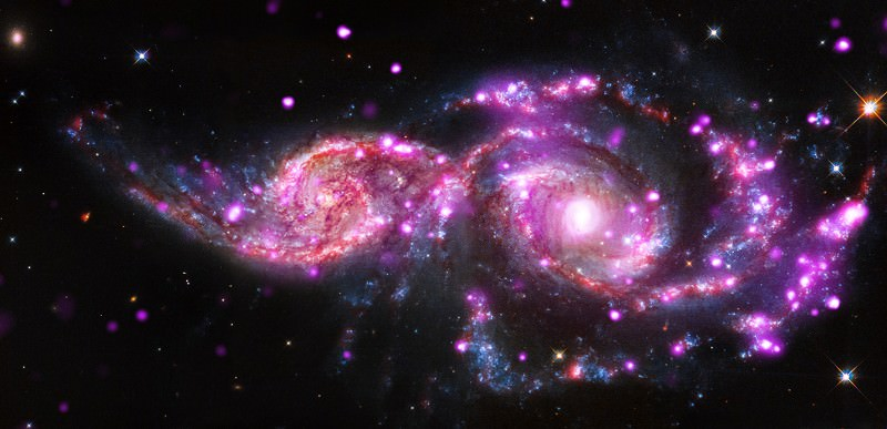 Cosmic collision sparks blinding x-ray light show