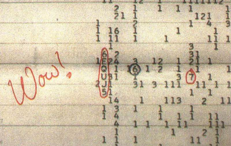 The Wow! signal: detected in 1977, it has never been repeated