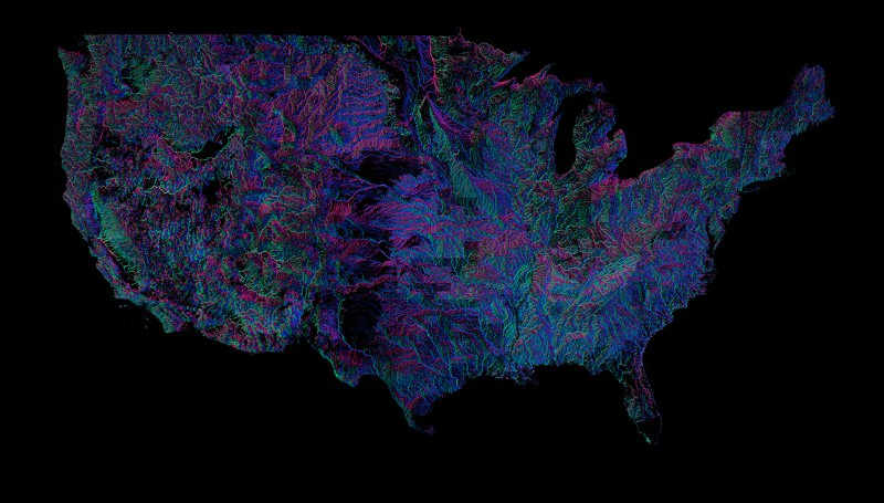 Go with the flow: See all 250,000 rivers in the US